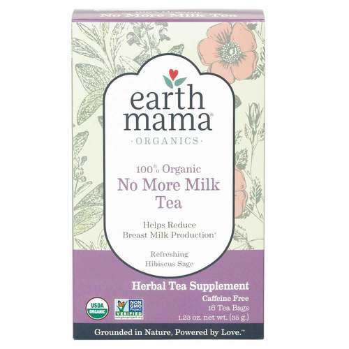 Earth Mama Organic No More Milk Tea  - 16 Bags - 26347_front.jpg