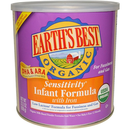 Earth's Best Organic Sensitivity Infant Formula with DHA and ARA  - 23.2 oz - 58988_01.jpg