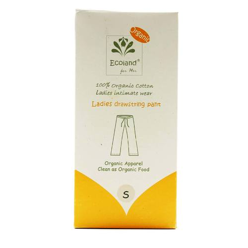 Ladies Drawstring Pant- Natural- Small