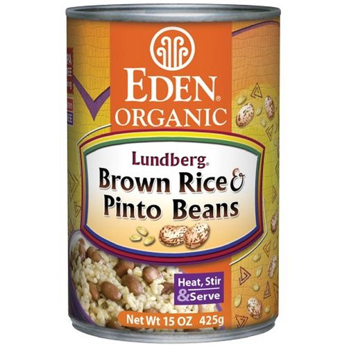 Organic Brown Rice and Pinto Beans
