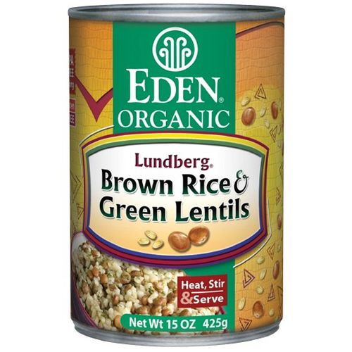 Organic Brown Rice and Green Lentils