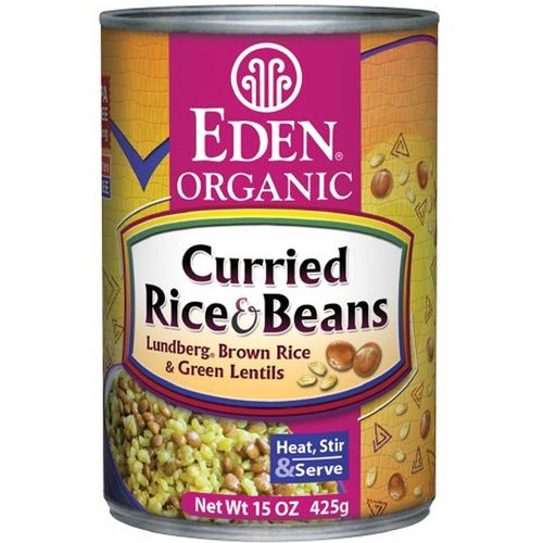 Organic Curried Rice and Lentils