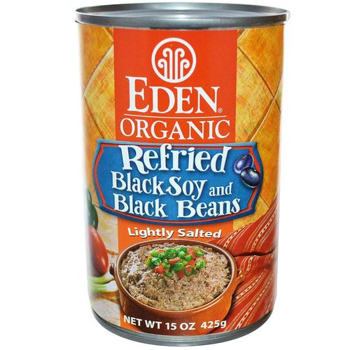 Organic Refried Black Soy and Black Beans