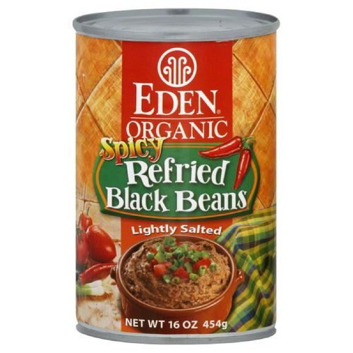Organic Spicy Refried Black Beans
