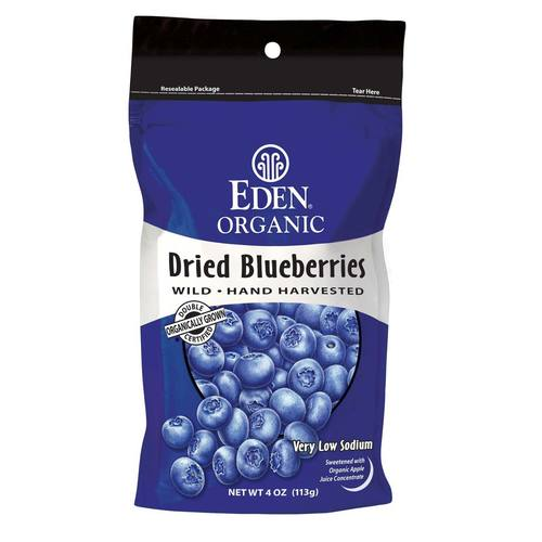 Eden Foods Dried Berries Blueberries - 4 oz