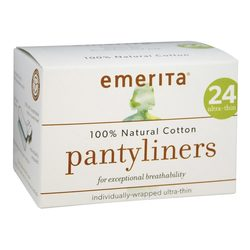 Emerita Natural Cotton Ultra Thin Pantyliners