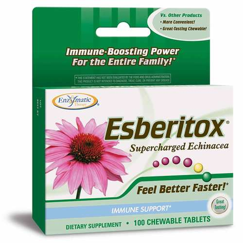 Enzymatic Therapy Esberitox  - 100 ChewTablets - 158_front.jpg