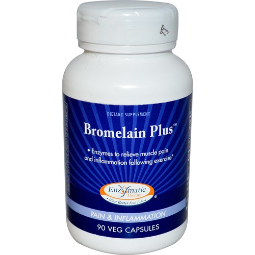 Enzymatic Therapy Bromelain Plus  - 90 Capsules - 3864_01.jpg