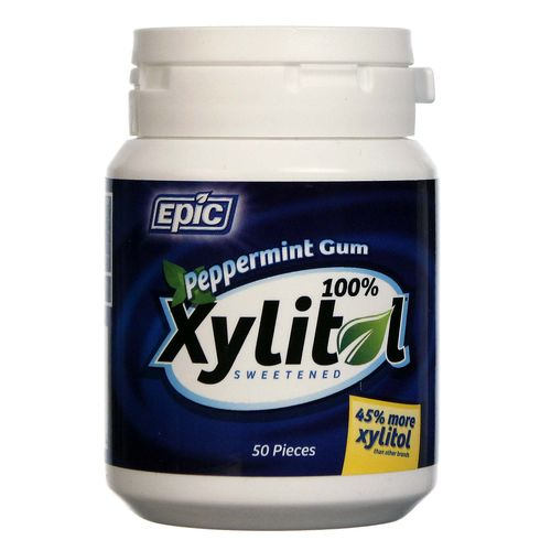 Epic Dental Xylitol Gum Peppermint - 50 Pieces - 898414001504_1.jpg