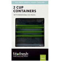 Fit and Fresh 2 Cup Chill Containers