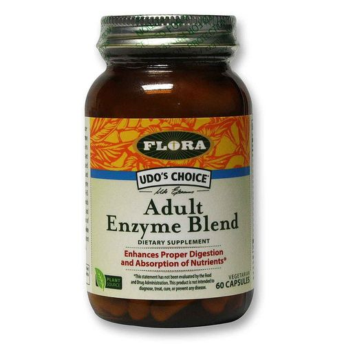 Flora Udo's Choice Adult Enzyme Blend - 60 VCapsules - 20120124_100.jpg