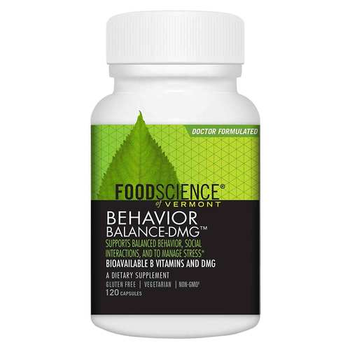 FoodScience of Vermont Behavior Balance - DMG - 120 VCapsules - 3587_front.jpg