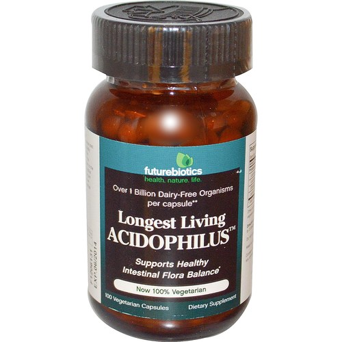 Futurebiotics Longest Viver acidophilus 100 Cápsulas - 1323_01.jpg