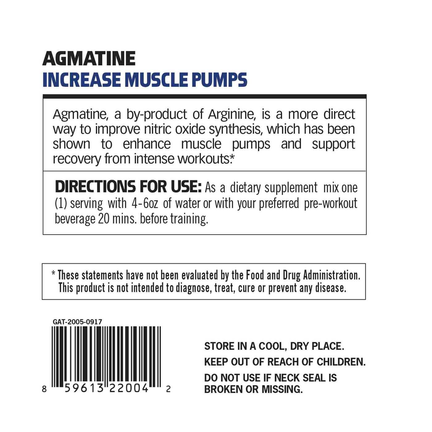 GAT Agmatine - 100 servings