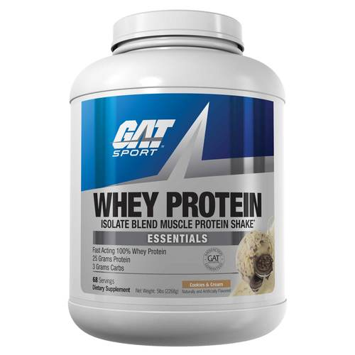 GAT Whey Protein Cookies & Cream - 5 lbs - 299957_front.jpg