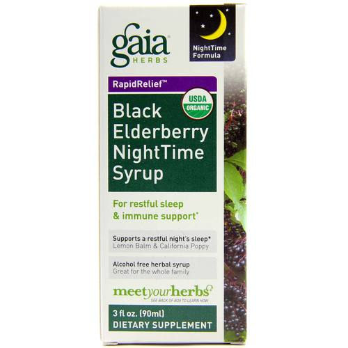 Gaia Herbs Black Elderberry Nighttime Syrup  - 3 fl oz - 103067_1.jpg