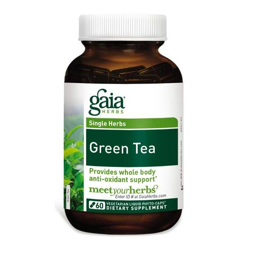 Gaia Herbs Green Tea  - 60 Vegetarian Liquid Phyto-Caps