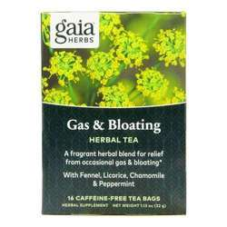 Gaia Herbs Gas and Bloating Tea Caffeine-free