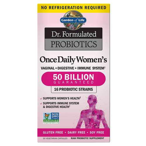 Garden of Life Dr. Formulated Probiotics Once Daily Women's  - 30 VCapsules - 105126_front.jpg