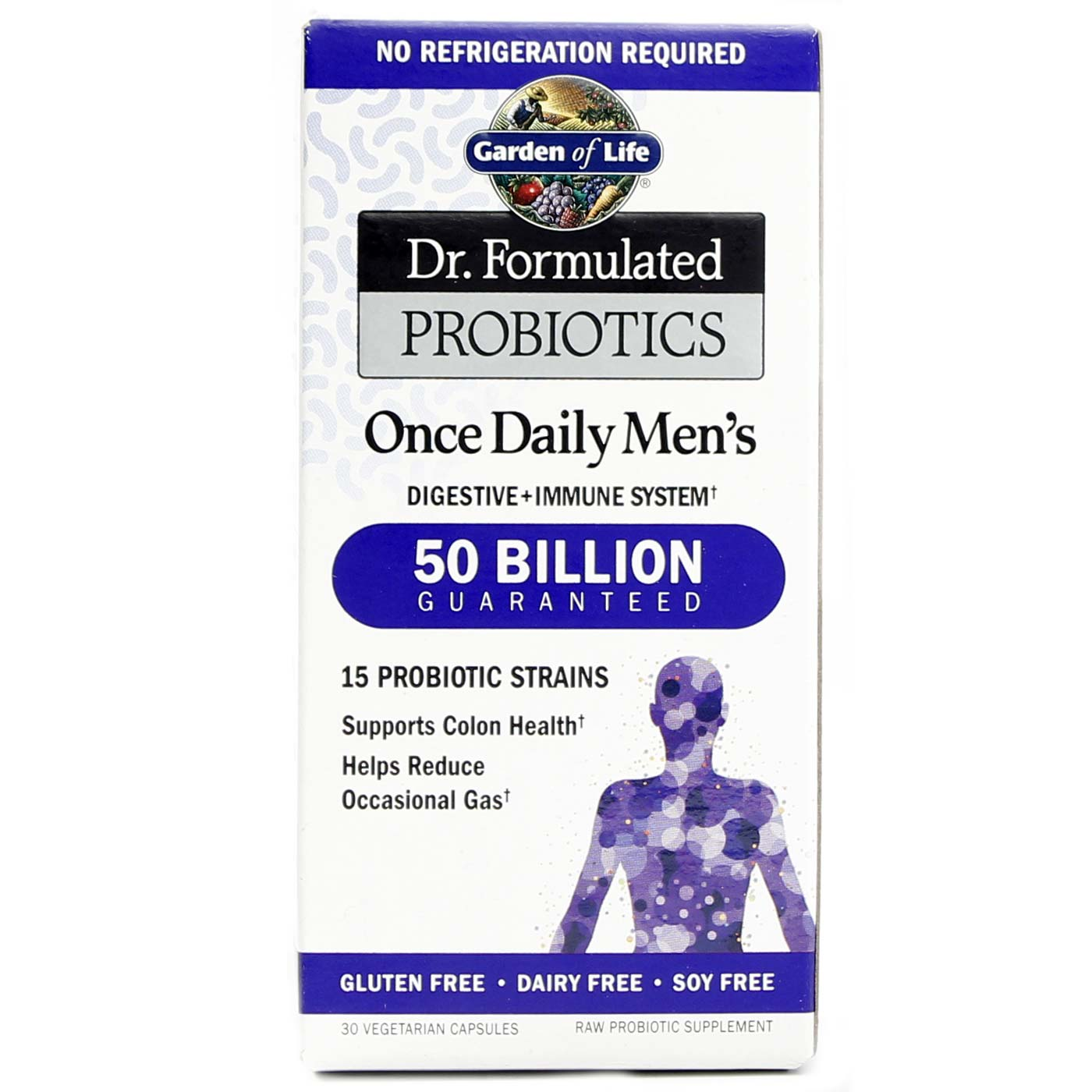 garden of life dr formulated probiotics once daily men s 30