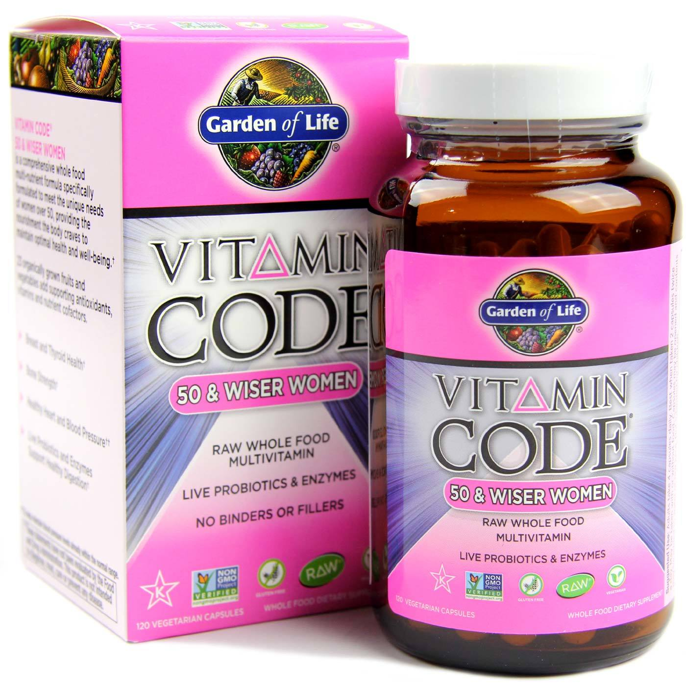 Garden Of Life Vitamin Code 50 And Wiser Women 120 Vcapsules