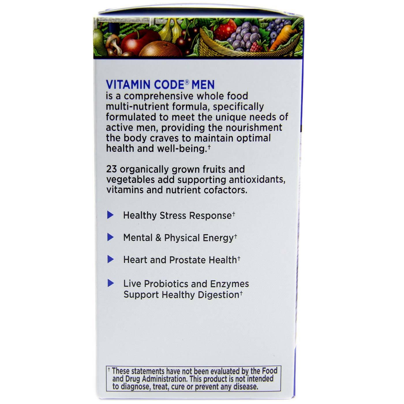 Garden of Life Vitamin Code Men 120 VCapsules eVitaminscom