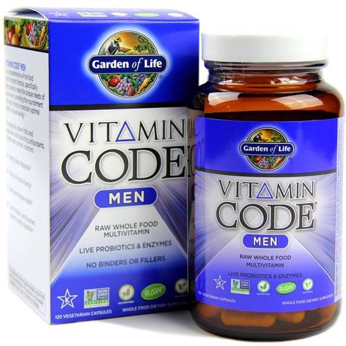 Garden of life vitamin code men 120 vcapsules - Garden of life multivitamin review ...