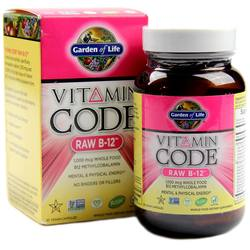 Garden of Life Vitamin Code RAW B12 1000 mcg