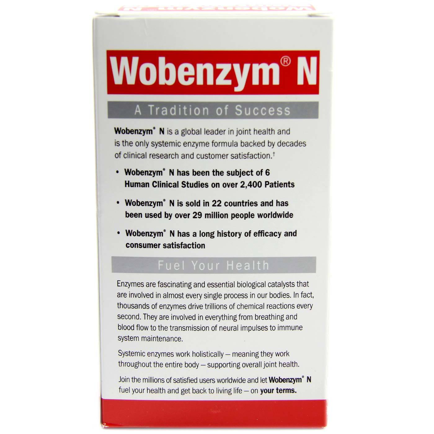 Garden of Life Wobenzym N - 400 Tablets