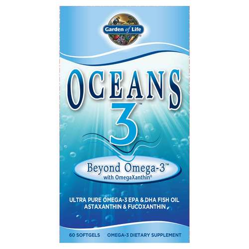 Garden of Life Oceans 3 Beyond Omega-3 - 1,275 mg - 60 Softgels - 15739_front.jpg