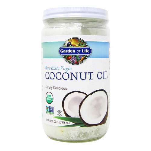 Garden of Life Organic- Extra Virgin Coconut Oil - 32 fl oz (946 ml) - 15791_front2020.jpg