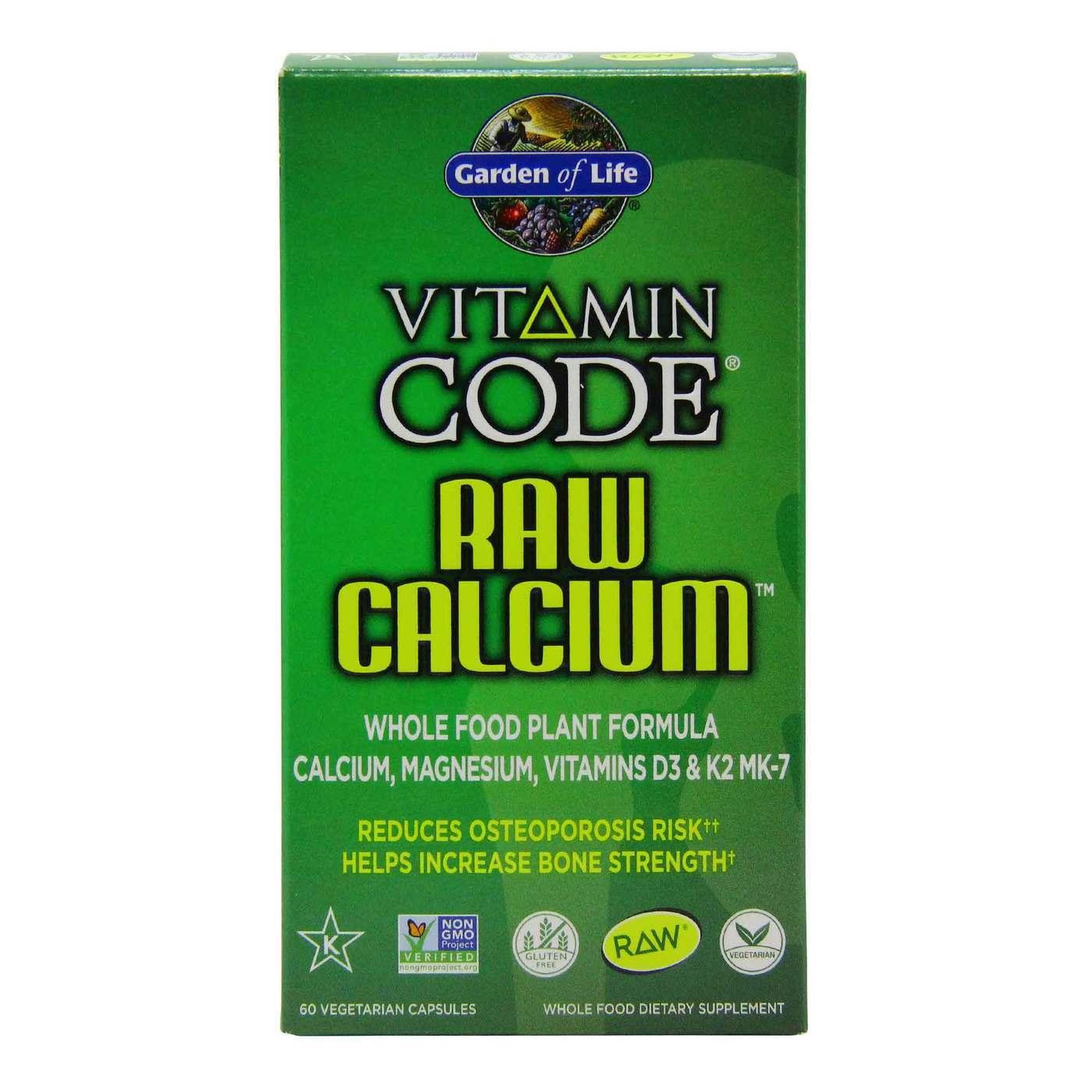 Garden Of Life Vitamin Code Raw Calcium 60 Vegetarian Capsules Evitamins Com