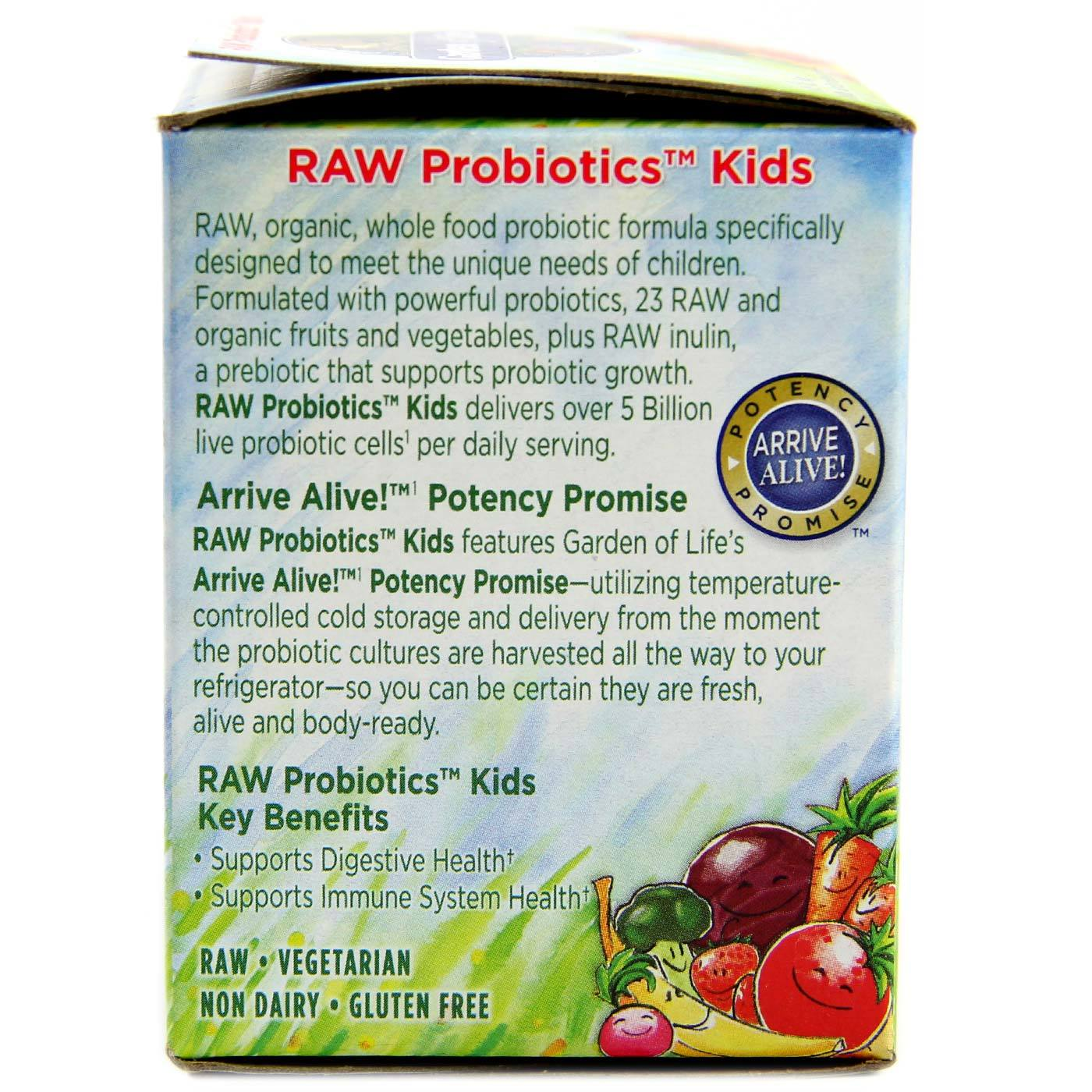 garden of life raw probiotics kids 3 4 oz evitamins south africa