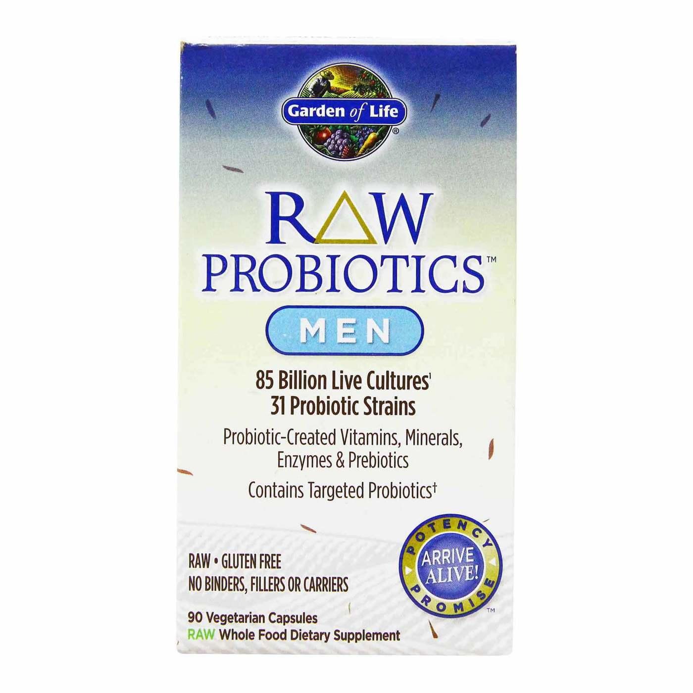 Garden Of Life Raw Probiotics Men 90 Vegetarian Capsules Evitamins Com