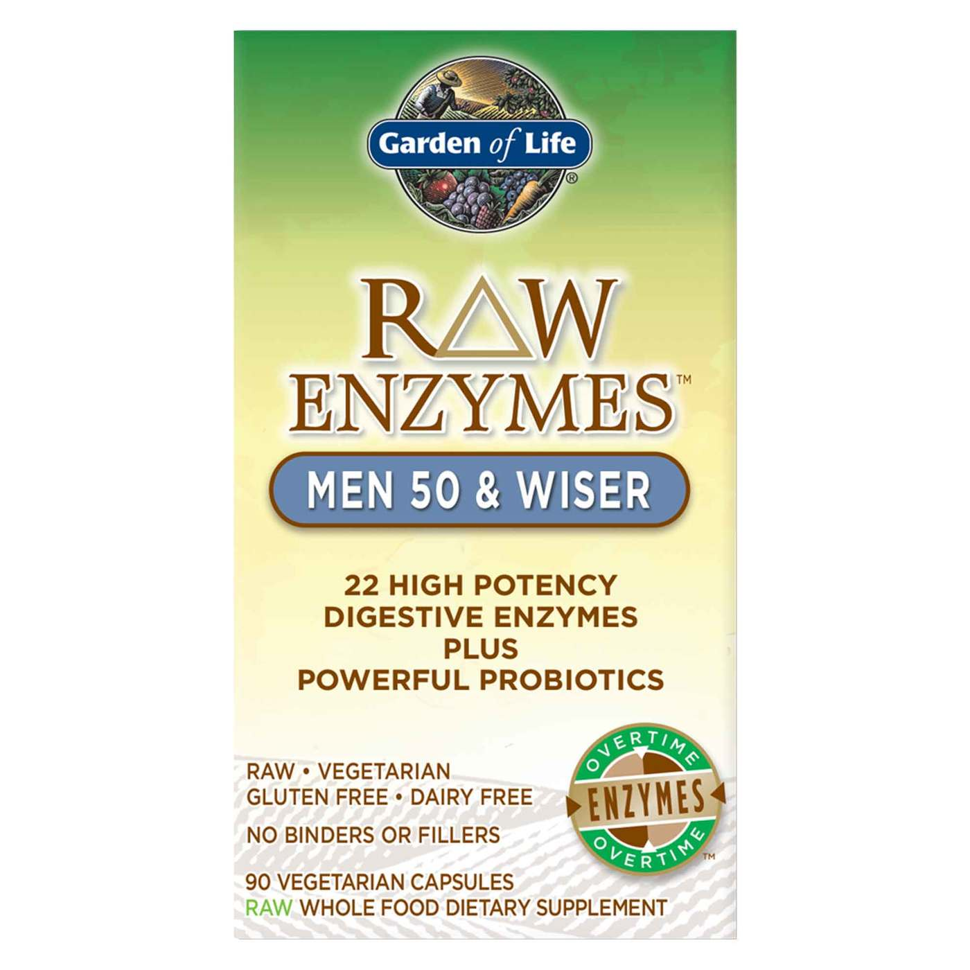 Garden of Life RAW Enzymes Men 50 and Wiser - 90 VCapsules