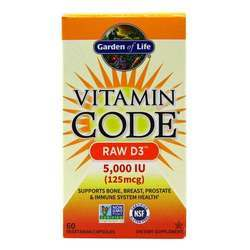 Garden of Life Vitamin Code Raw D3 5,000 IU