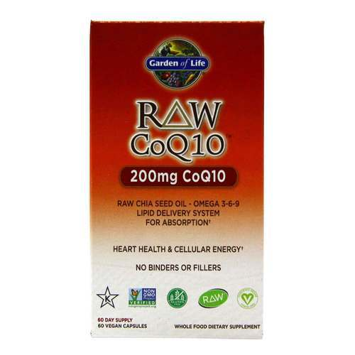 Garden of Life RAW CoQ10 - 200 mg - 60 Vegan Capsules - 23916_front2020.jpg
