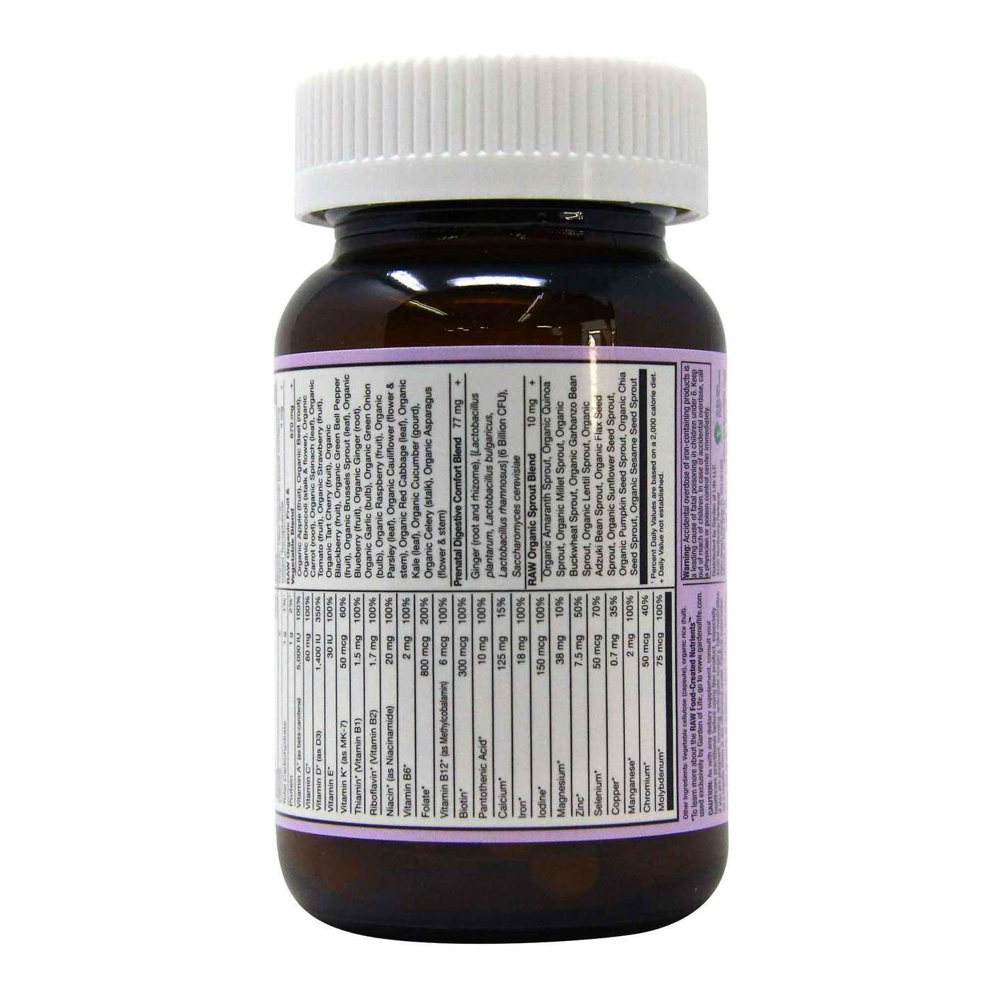 Garden Of Life Vitamin Code Raw Prenatal 30 Vegetarian Capsules Evitamins Com