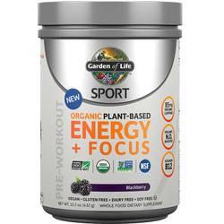 Garden of Life SPORT Organic Pre-Workout Energy Plus Focus
