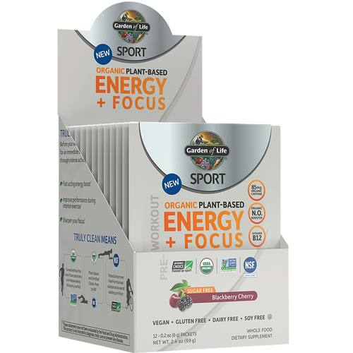 SPORT Organic Pre-Workout Energy Plus Focus
