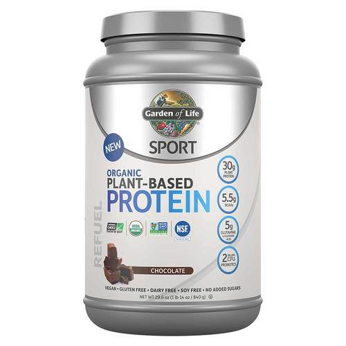 Garden of Life, SPORT Proteína Vegetal Orgânica, Chocolate - 840 g - 319664_front.jpg