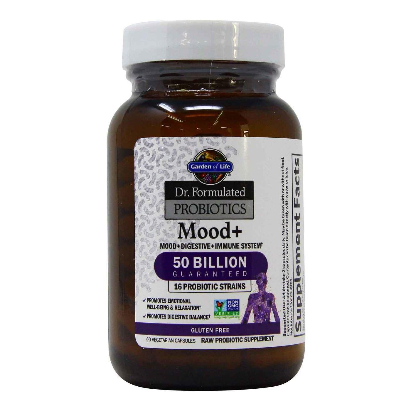 Garden Of Life Dr Formulated Probiotics Mood 60 Vegetarian Capsules Evitamins Com