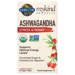 Garden of Life mykind Organics Ashwagandha Stress  Mood Support