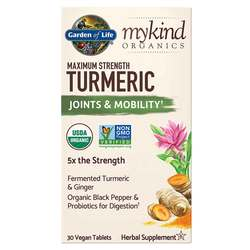 Garden of Life mykind Organics Turmeric Maximum Strength Joints  Mobility Formula