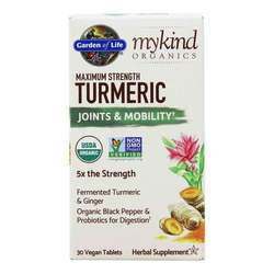 Garden of Life mykind Organics Turmeric Maximum Strength Joints  Mobility Formula