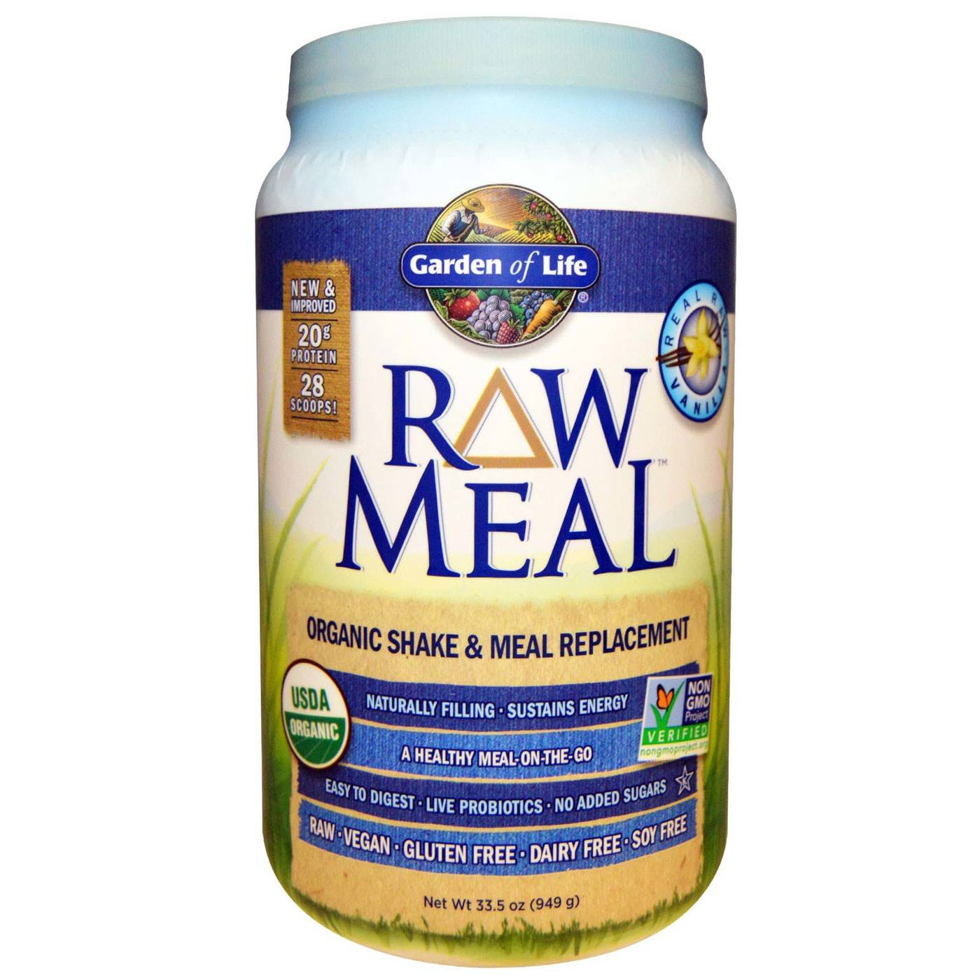 Buy Garden Of Life Raw Meal Vanilla 32 Oz Evitamins Australia
