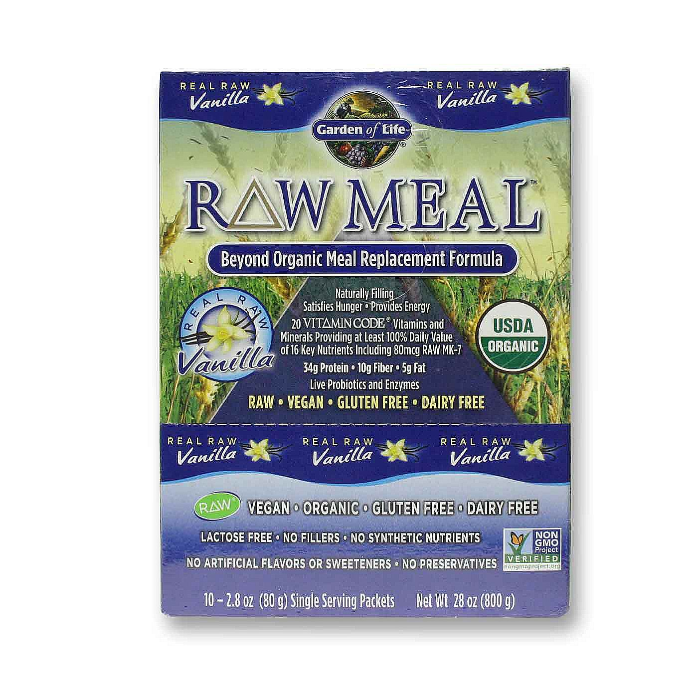 Garden Of Life Raw Meal Vanilla 10 3 Oz Packets
