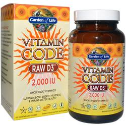 Garden of Life Vitamin Code Raw D3 2000 IU
