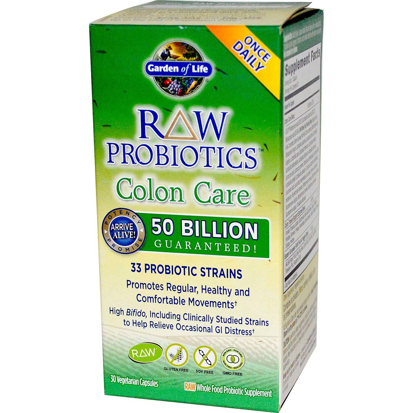 buy garden of life raw probiotics colon care 30 vcapsules evitamins australia