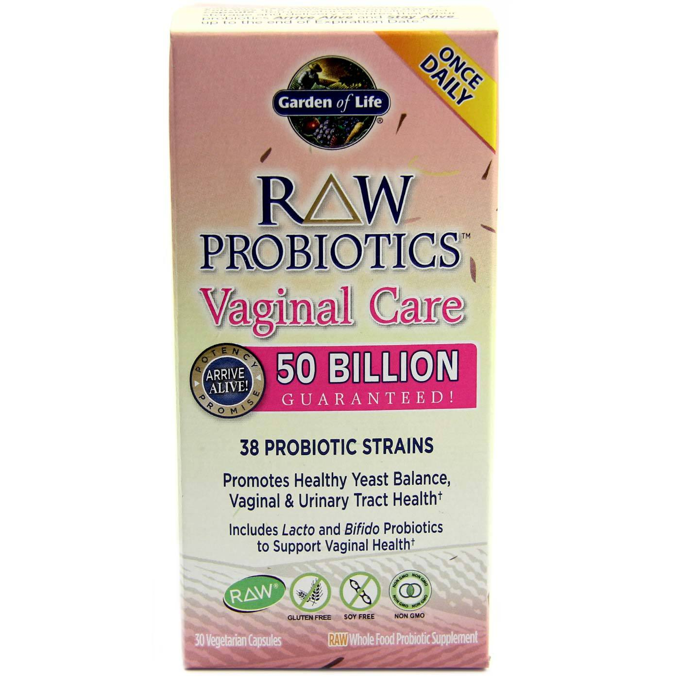 garden of life raw probiotics vaginal care 30 vcapsules